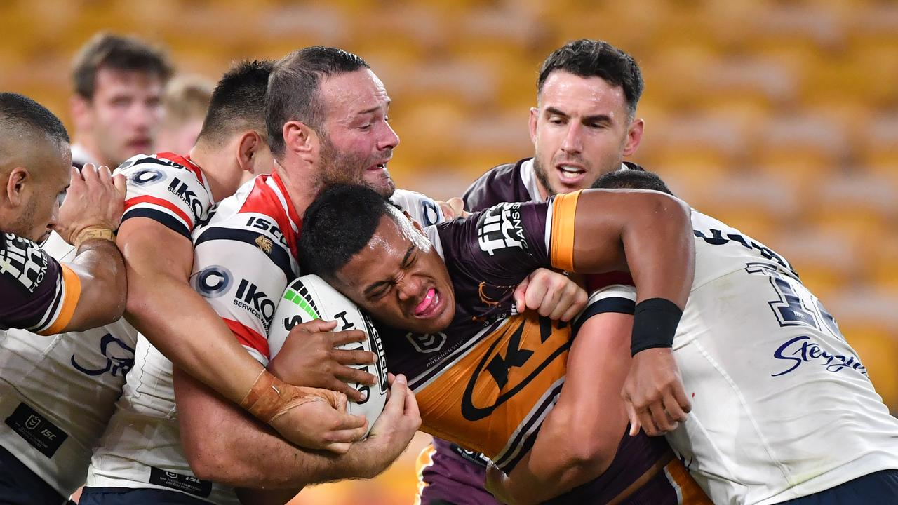 Brisbane were smashed 59-0 by the Roosters. AAP Image/Darren England.
