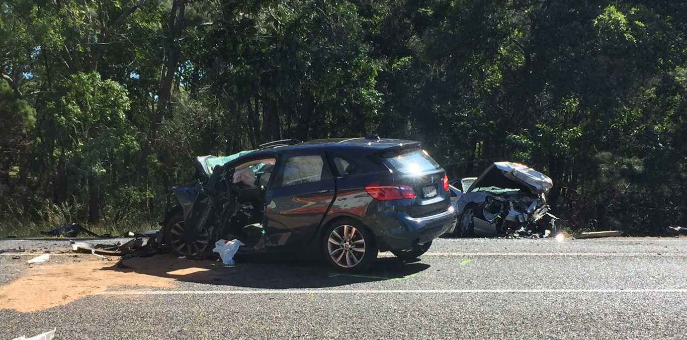 Three people have been taken to Bundaberg Hospital in a stable condition after this morning's crash at Kensington.
