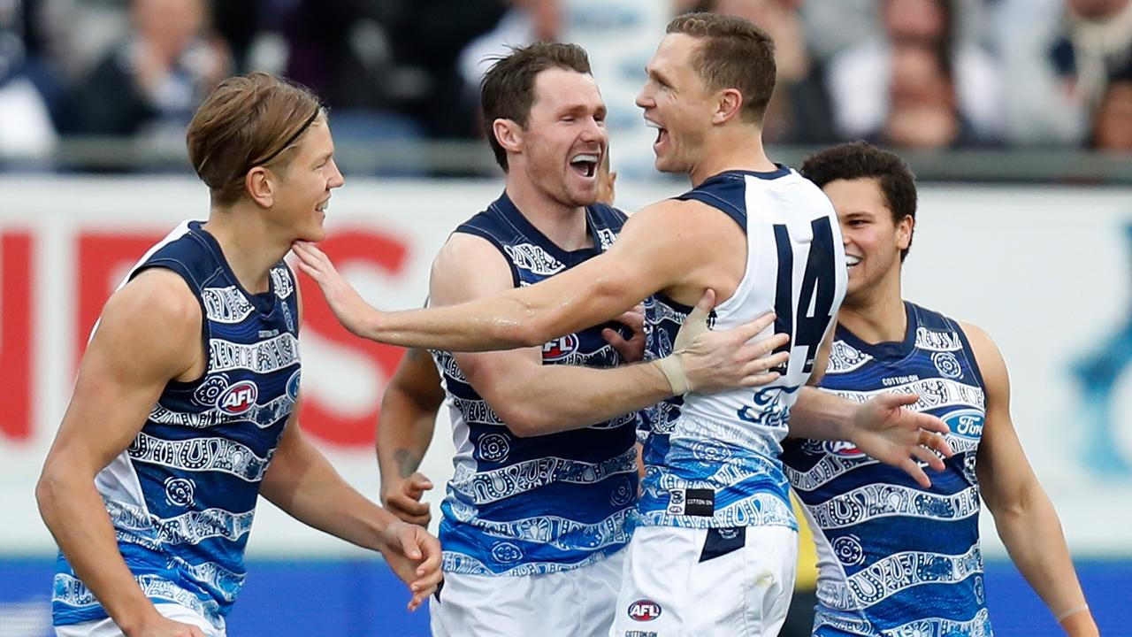Mick McGuane says Geelong's midfield can be caught napping when it loses clearances.