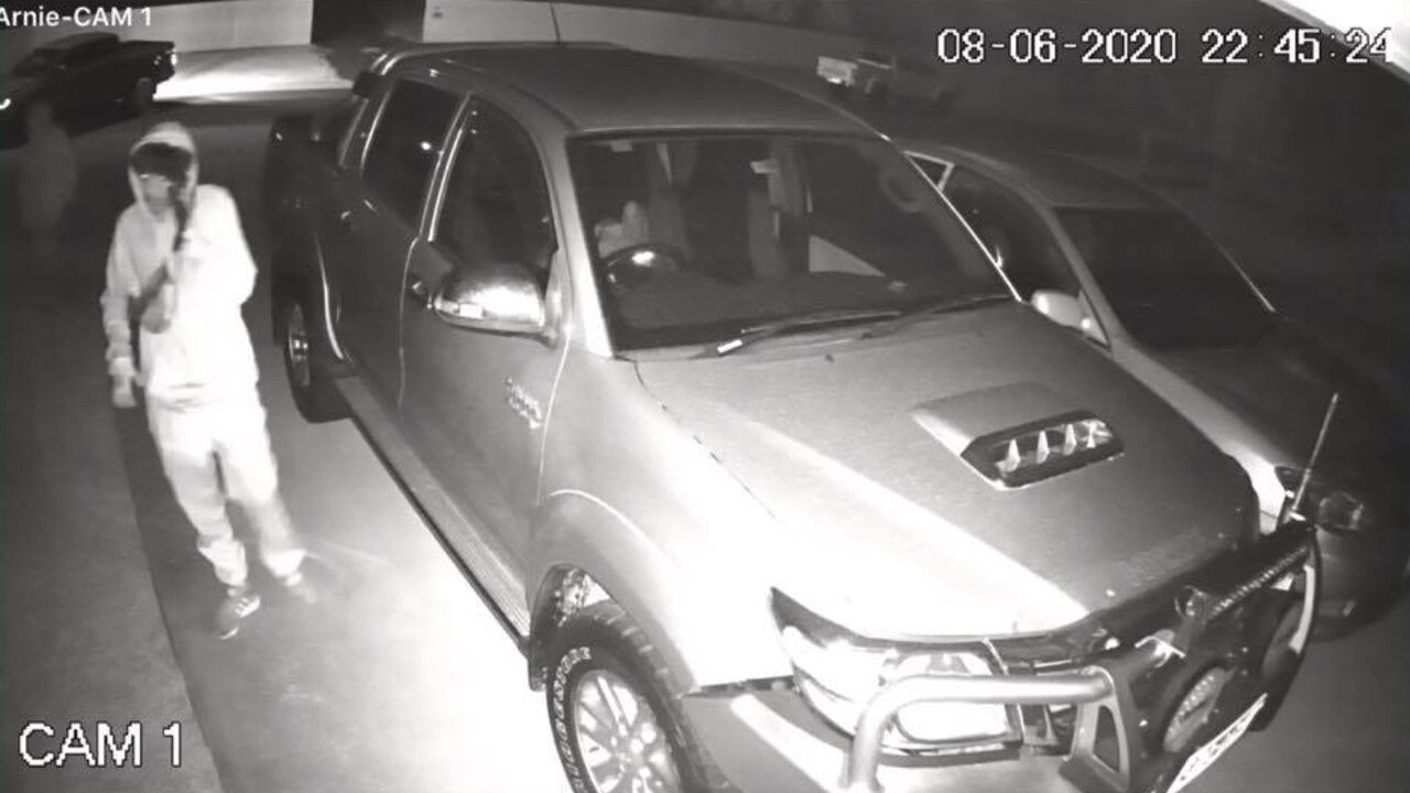 A Cap Coast resident shared CCTV footage of the moment an alleged youth offender approached her vehicle in her driveway overnight.