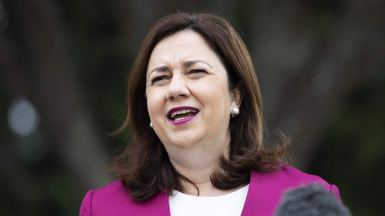 Queensland Premier Annastacia Palaszczuk is not prepared to immediately allow crowds back to games. Picture: News Corp/Attila Csaszar