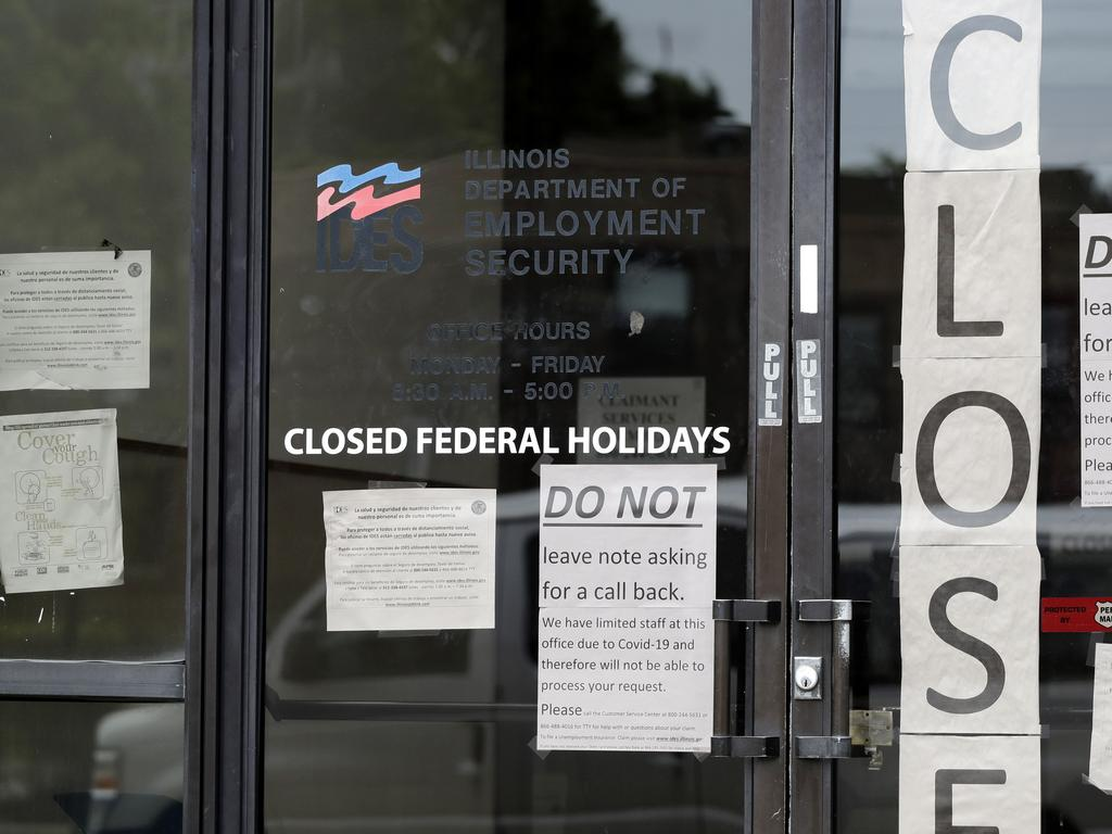 COVID-19 lockdowns have strangled the US economy. Picture: AP