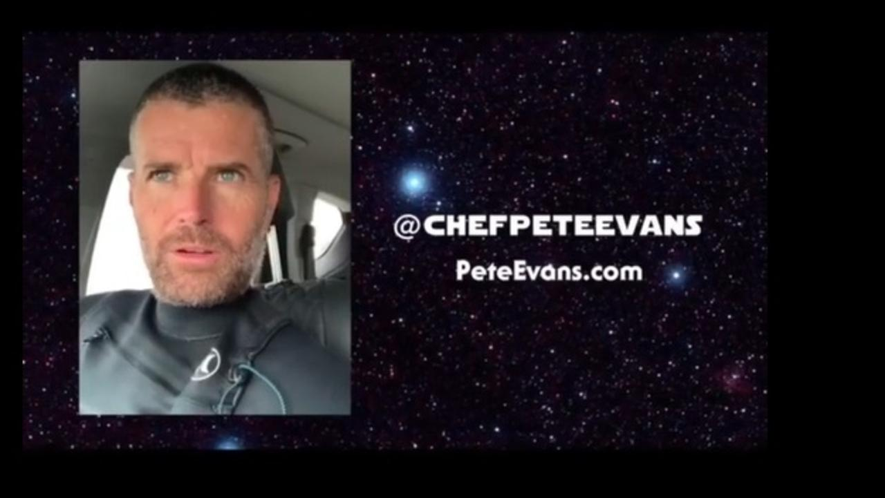 Pete Evans' latest Instagram video.