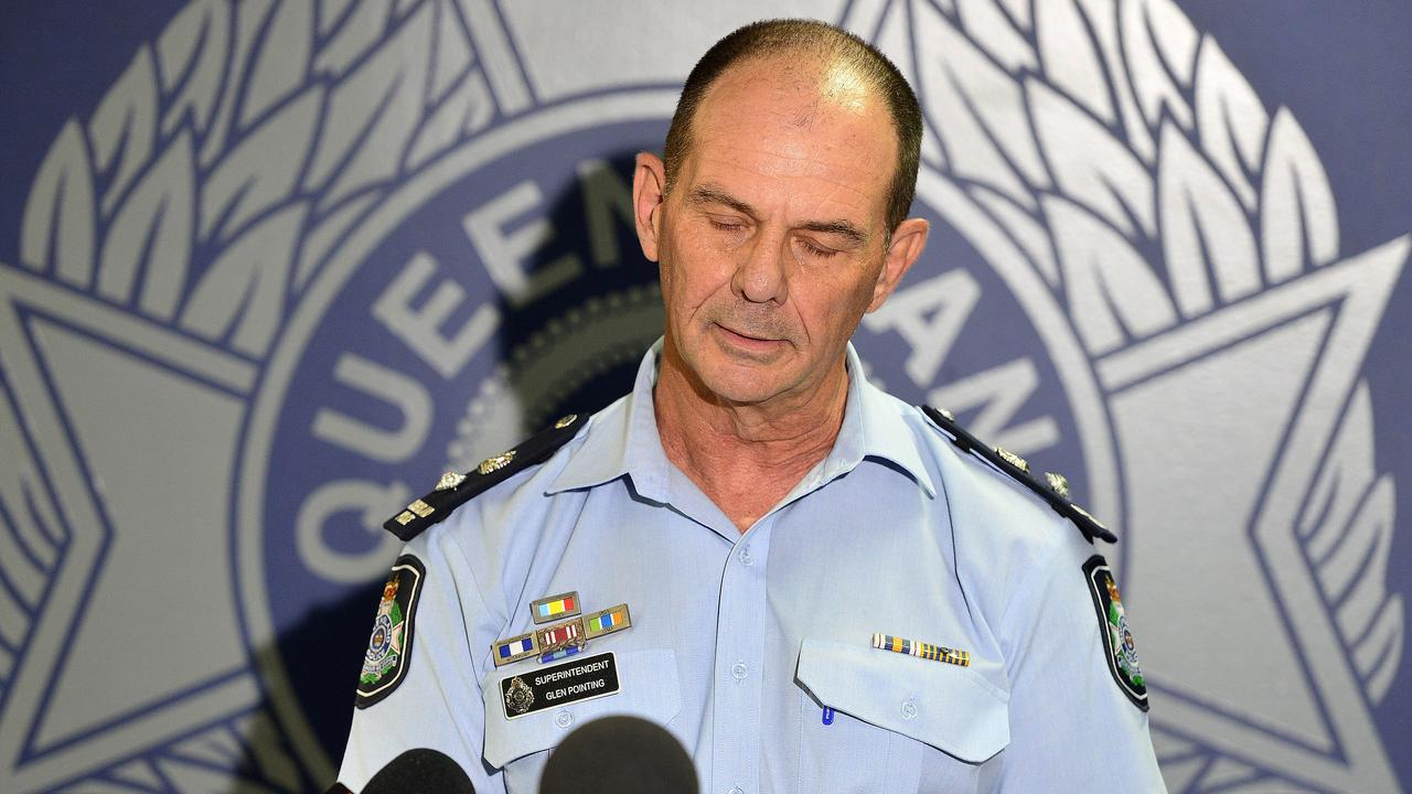 Superintendent Glen Pointing spoke to media in Townsville about the crash on Sunday. PICTURE: MATT TAYLOR
