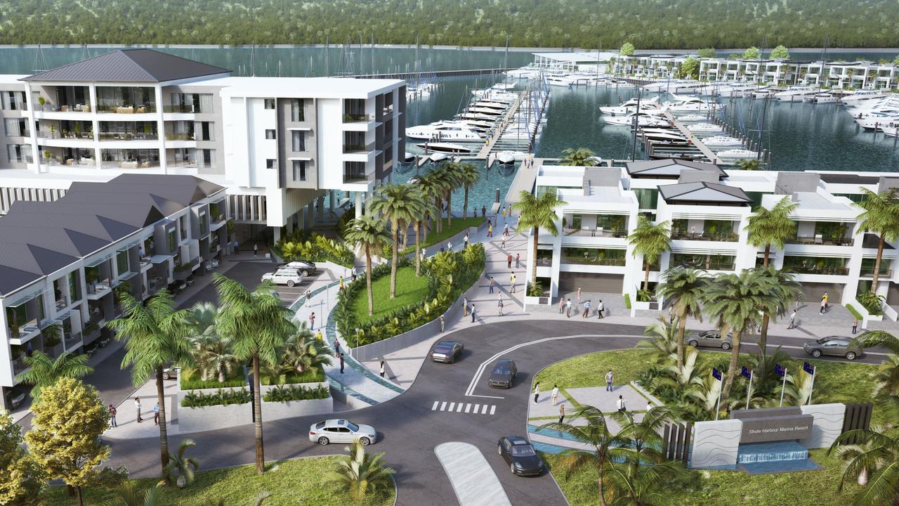 The Shute Harbour Marina Resort project has continued to push forward despite the coronavirus pandemic.