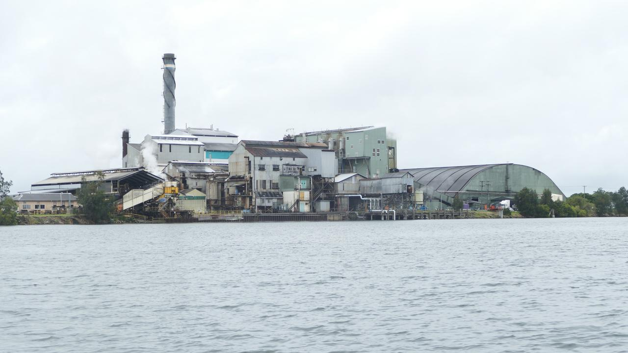 The Harwood Mill seen from the Clarence River.