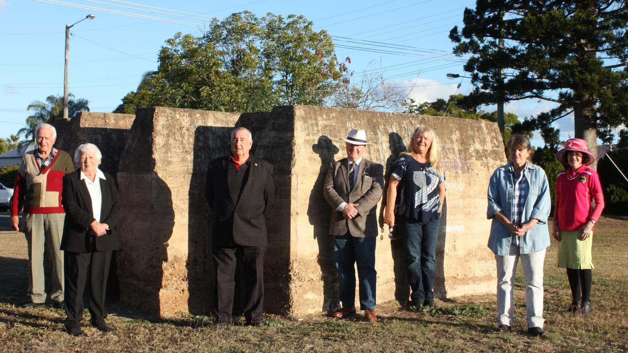 CULTURAL CELEBRATION: Richie O'Neill, Glenda and Leo Geraghty, Mayor Brett Otto, Lee Porter, Carolyn Summers and Councillor Kathy Duff at the site of the newly announced Murgon art gallery and fossil centre.