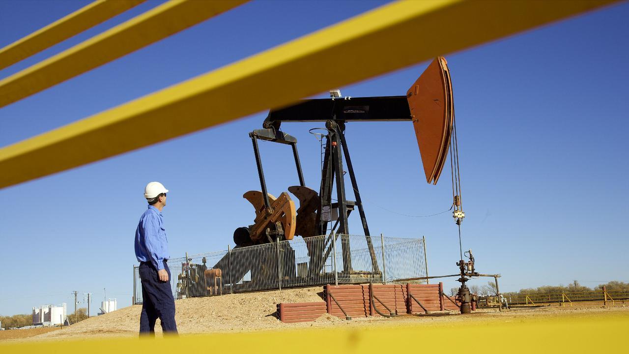Santos Tarbat oil exploration operations in the Eromanga Basin, Queensland. Pic Robert Garvey, for Santos.