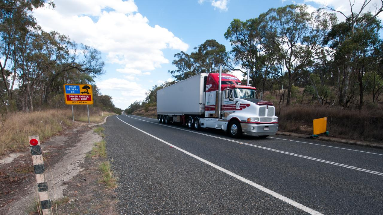 "Country highways like the New England, pictured 30km south of Warwick, feel ""quite eerie"" with almost no traffic, Llew O'Brien says. pic David Martinelli"