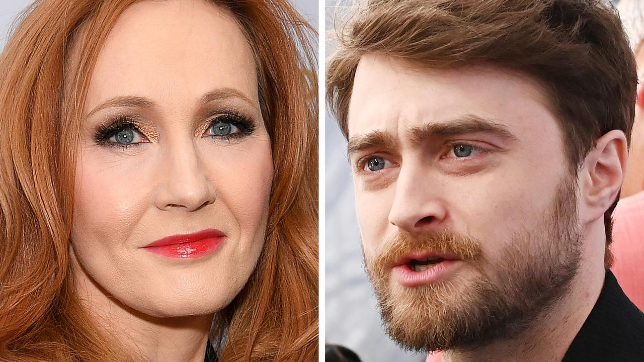 JK Rowling and Daniel Radcliffe. Picture: Mike Coppola/Getty Images for WarnerMedia
