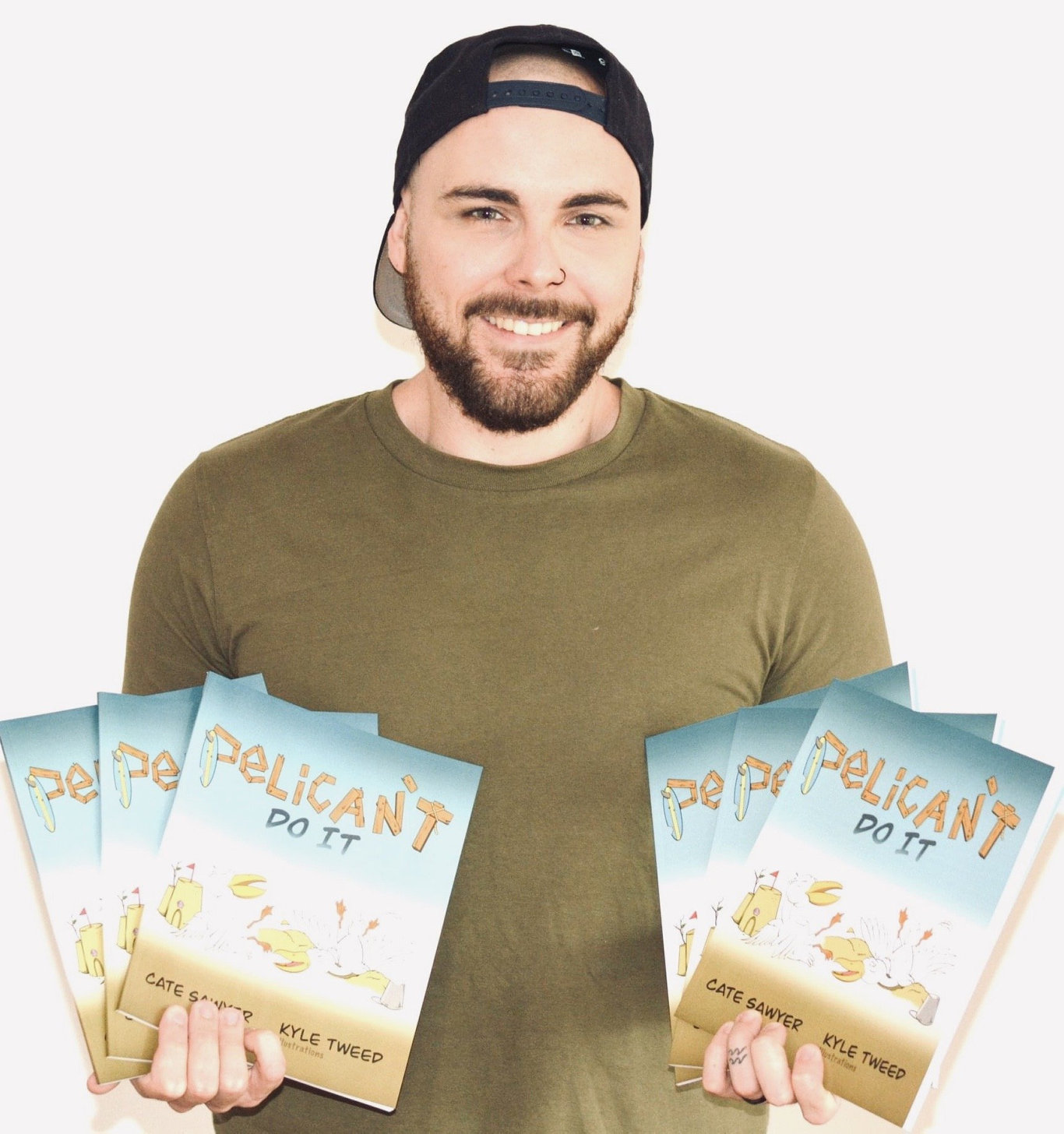 Kyle Tweed is celebrating the launch of his first picture book, Pelican't Do It, authored by picture book veteran Cate Sawyer.