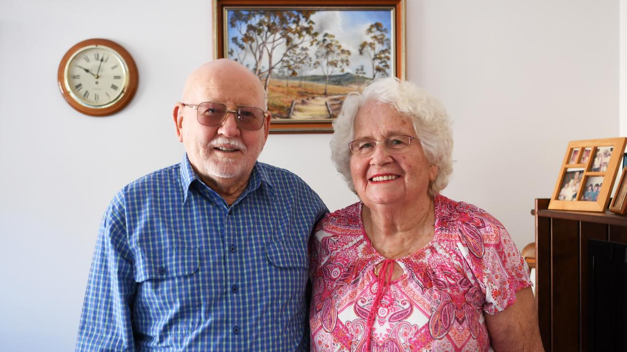 Bill and Marie Oram celebrate their 60th wedding anniversary.