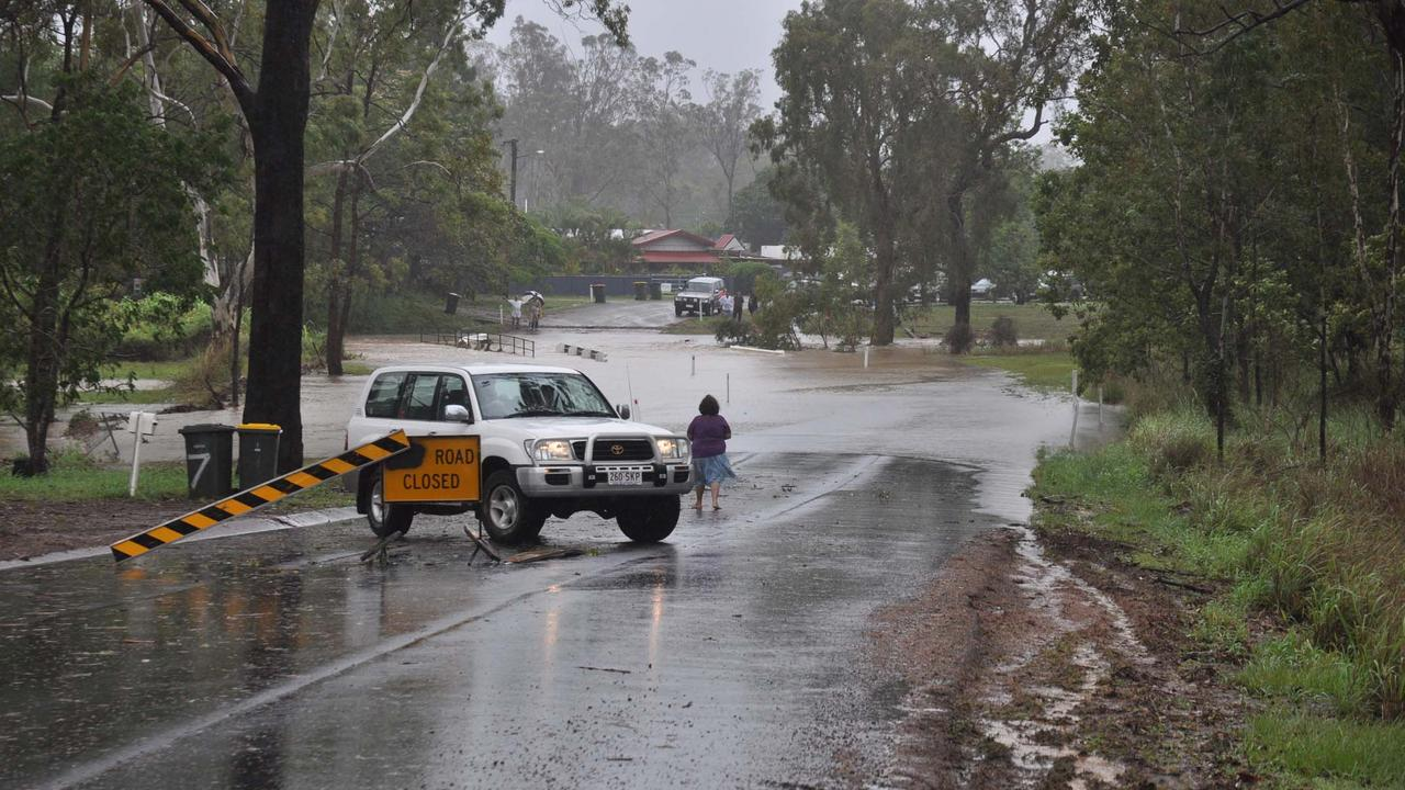 A cooling Pacific Ocean could see a La-Nina form off the Queensland coast in spring, bringing welcome rain. Awonga Dam Road, the access to Gladstone's watersupply was cut by rising creeks in previous torrential rain. Picture: Murray Ware