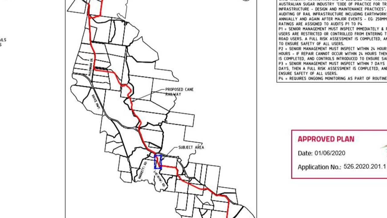 The updated proposal for the Wallaville Cane Rail Plan.