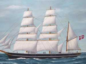 Our first immigrant ship, the Ariadne