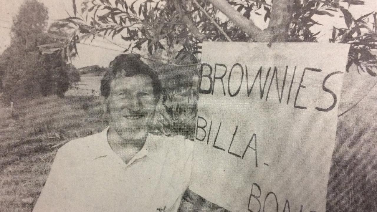 Widgee Shire councillor Geoff Brown in 1989.