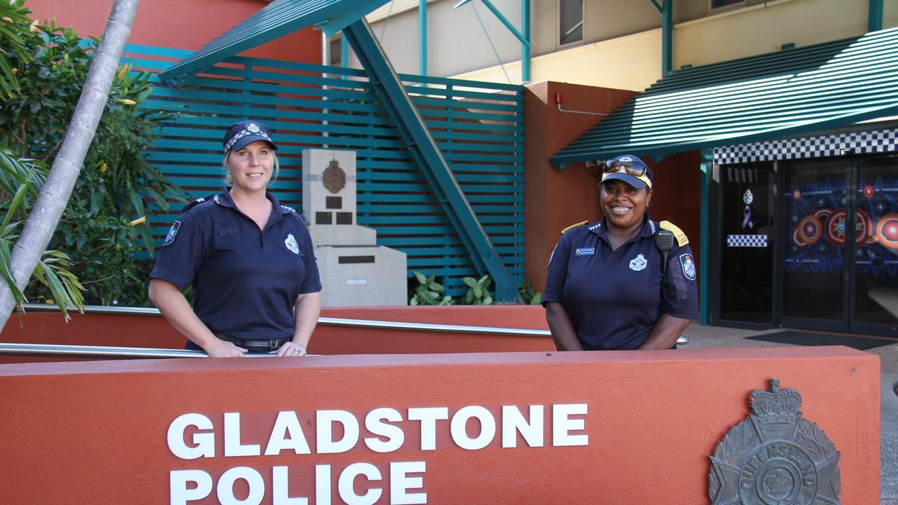 Gladstone police Crime Prevention Officer Senior Constable Wendy Kinsley and Senior Police Liaison Officer Jo Corowa. Picture: Rodney Stevens