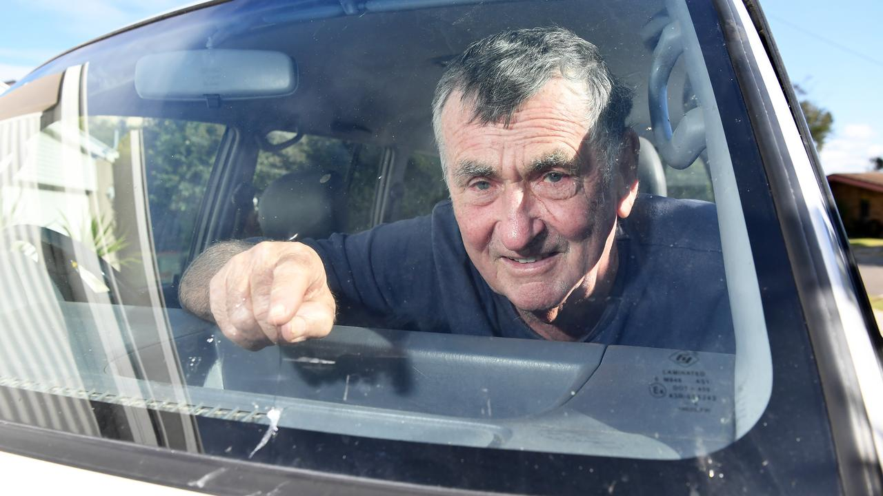 Andrew Lilly was driving along Eenie Creek Rd when loose tiles fell off another vehicle and smashed into his car. Photo: Patrick Woods