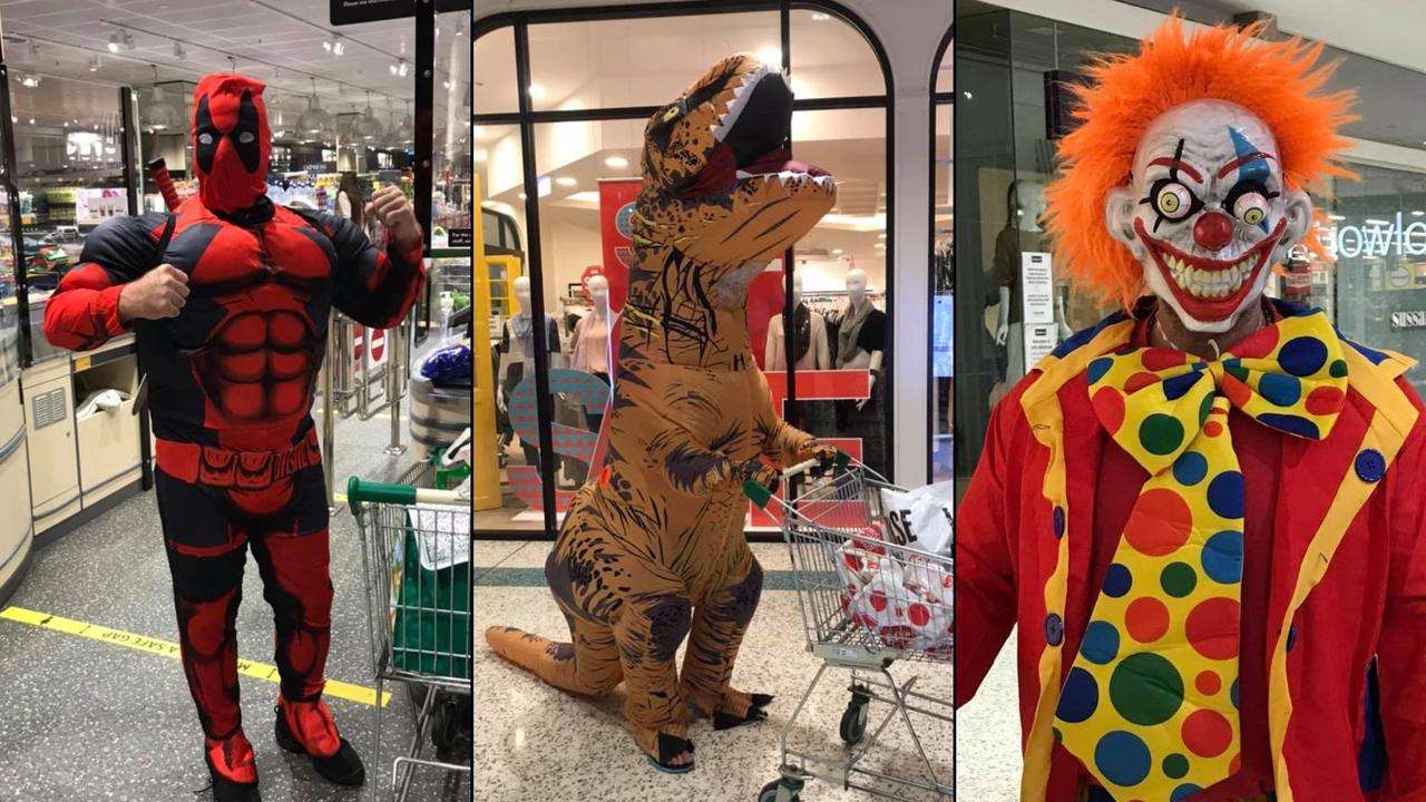 Paul Monaghan has been putting a smile on shoppers' faces as he dresses in a different costume every week for a trip to the supermarket.