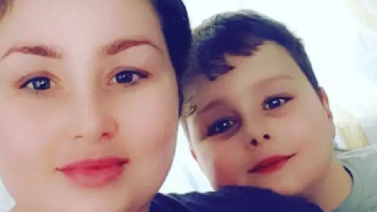Tawnee Willis and her son Frankie who was killed by a dog. Picture: Facebook.