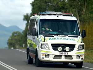 Driver hospitalised with face injuries after rollover