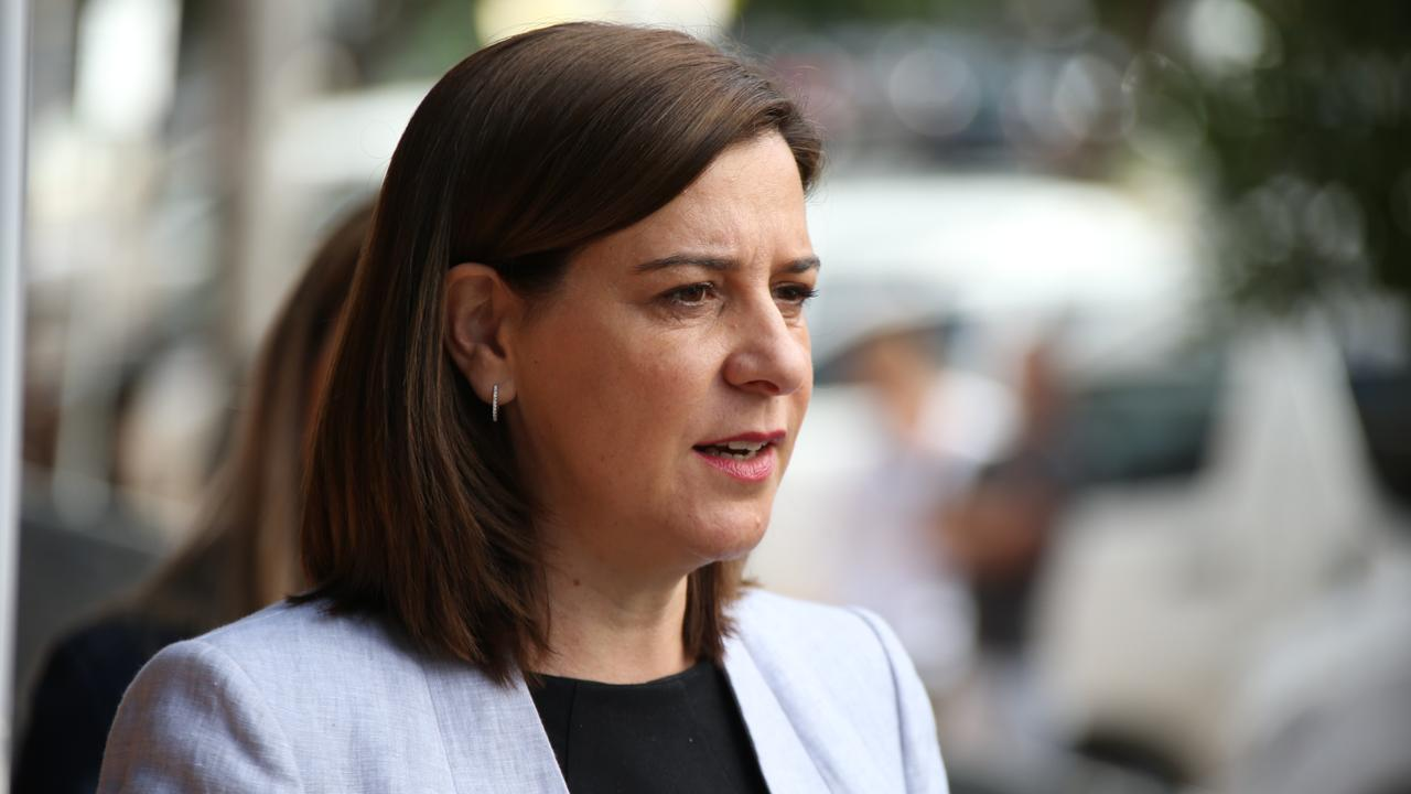 Despite her party leading in the polls, LNP Leader Deb Frecklington has a low approval rating. Picture Glenn Hampson