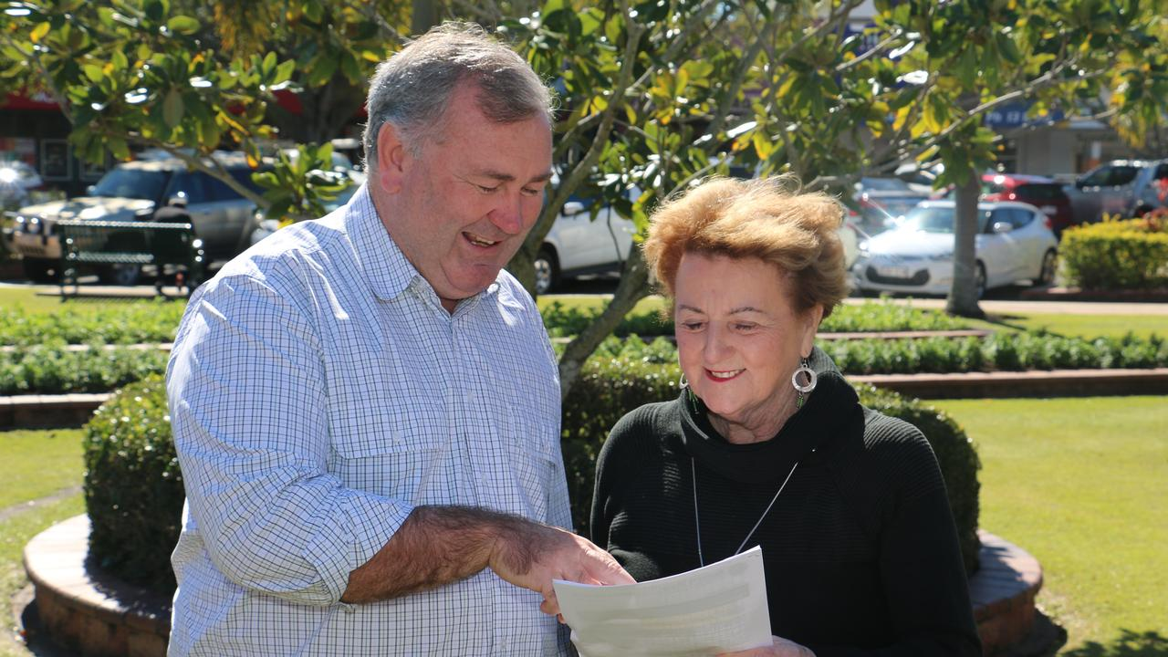 Bundaberg Mayor Jack Dempsey and Burnett Mary Regional Group chief executive Sheila Sharlesworth. The council and BMRG are negotiating a contract for the regional group to be based at 160 Hughes Rd.