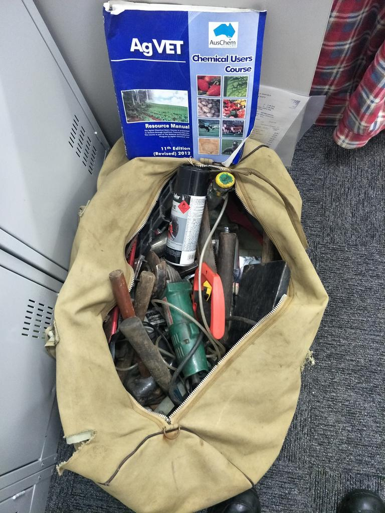Gatton Police are hoping to reunite this lost tool bag with its owner.
