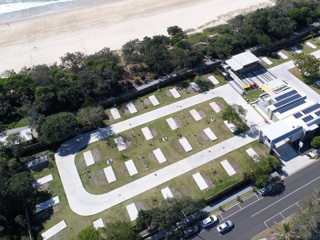 Mooloolaba Caravan Park is struggling without the winter tourists who travel from the southern states. Photo Patrick Woods / Sunshine Coast Daily.