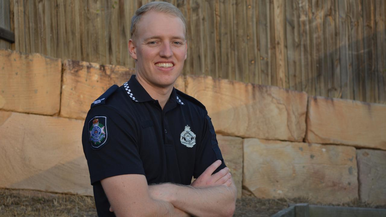 NEW COP: Laidley Police's newest police recruit, Joseph Brayshaw. Photo: Ebony Graveur