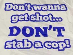 'Don't wanna get shot, DON'T stab a cop' officer sacker