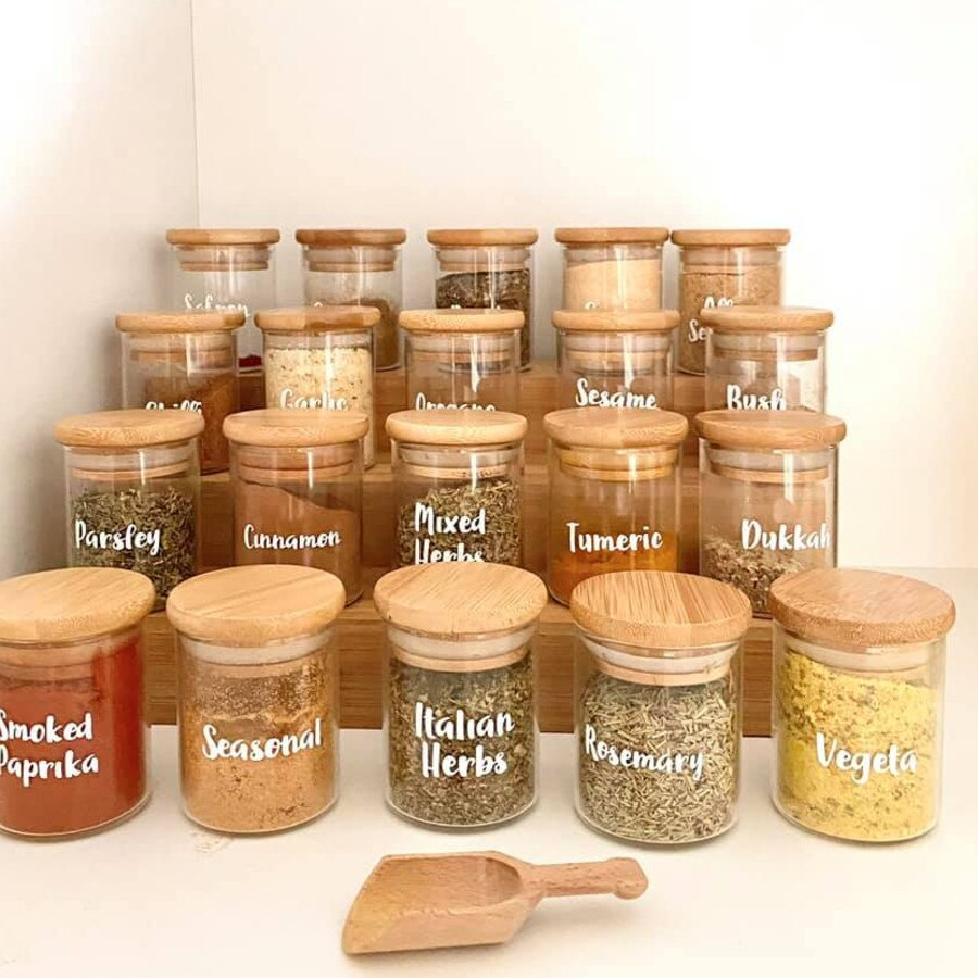 Her spices have also been perfectly sorted and positioned. Picture: Facebook