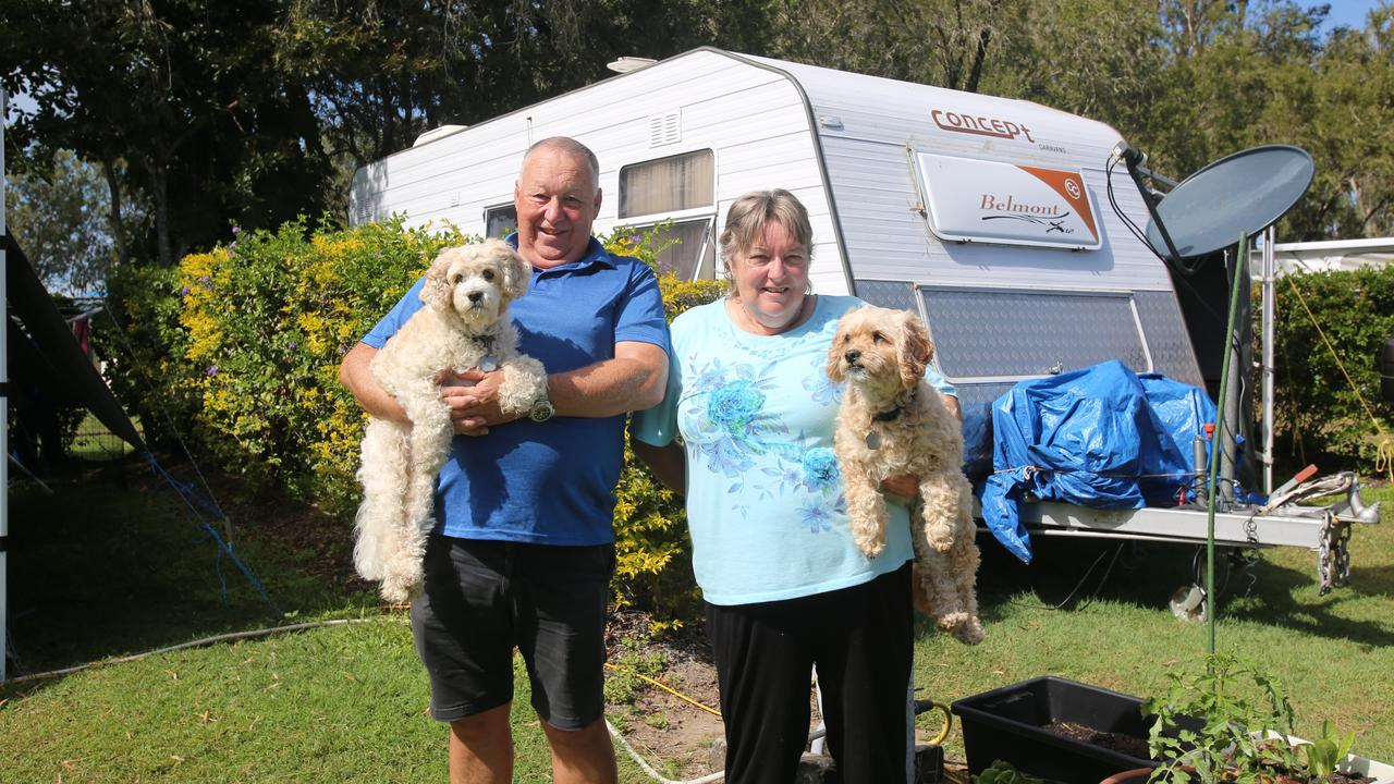 Allan and Cath Roberts with their dogs Caramello and Molly have enjoyed their stay at Proserpine Tourist Park.