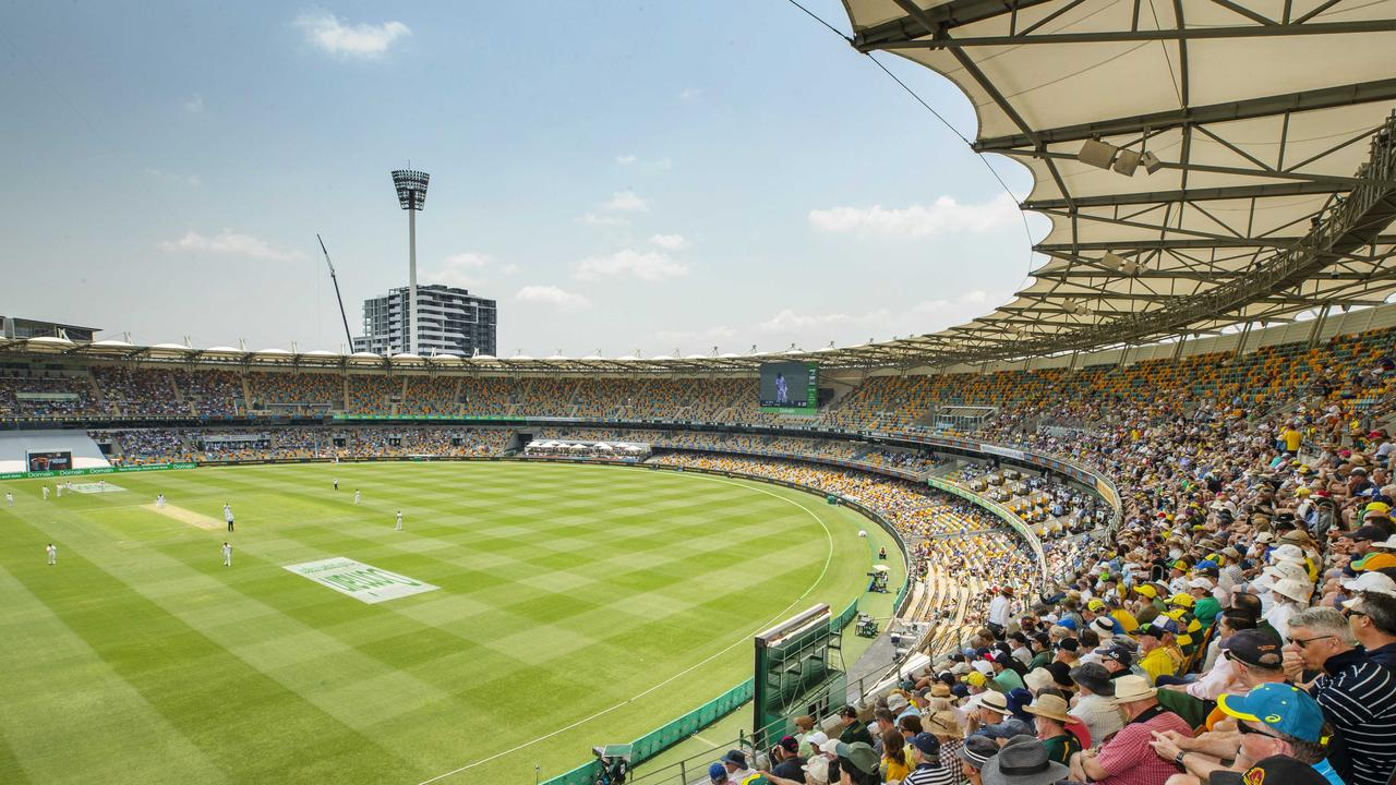 Scene from Day 1 of the test match between Australia and Pakistan at the Gabba. Photo Lachie Millard
