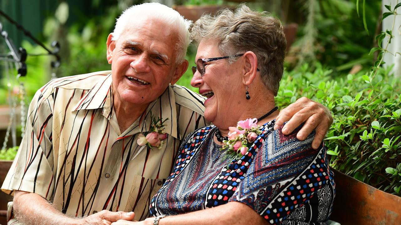LASTING LOVE: Col and Eva Linderberg celebrate 60 years of marriage. Picture: Mike Knott.