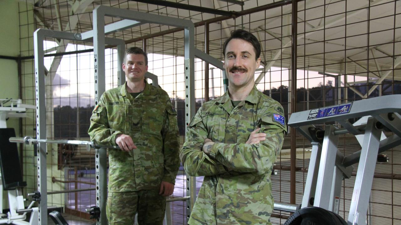 FIT FOR ARMY: At the 4st RNSWR in Lismore Corporal Coulter and Private Tim Kilroy said they enjoy the fitness component their service involves.