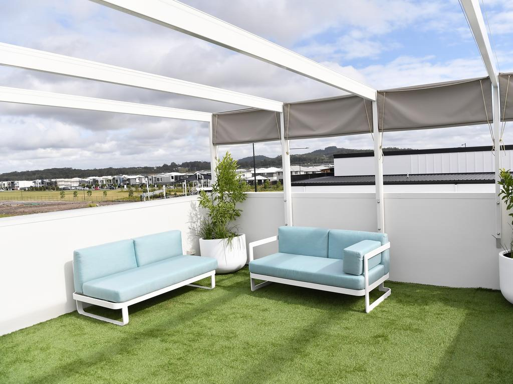 Costa Homes designer home's rooftop terrace. Photo Patrick Woods