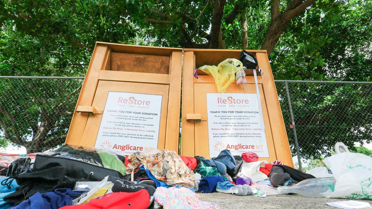 Generic charity bin. Picture: Glenn Campbell