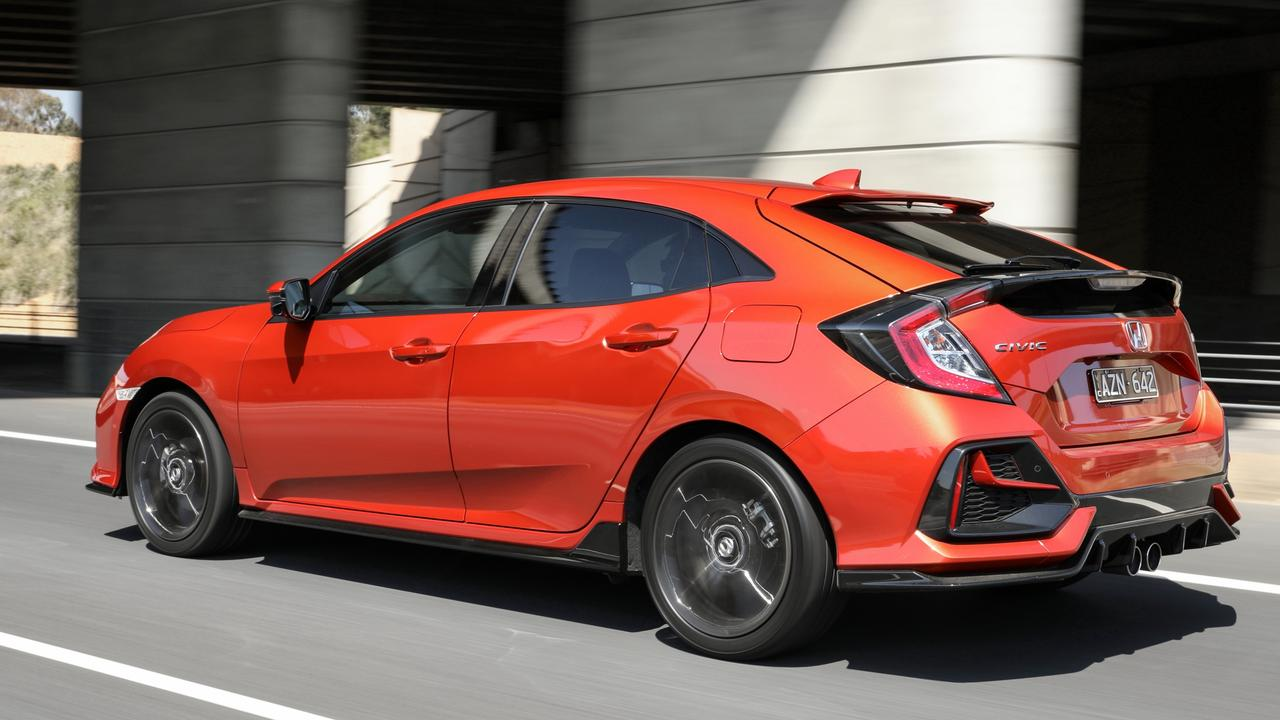 The RS is powered by a feisty turbo engine.