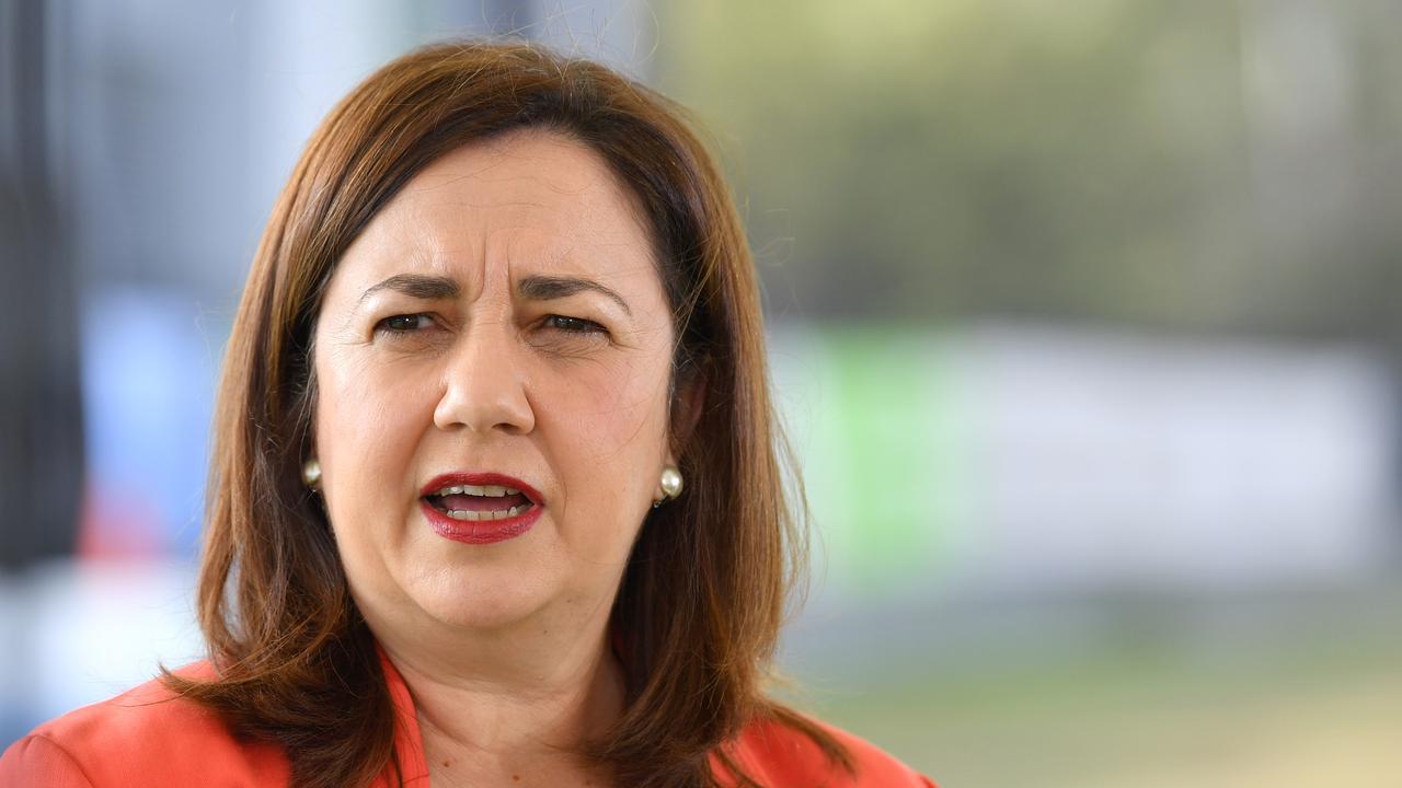 Premier Annastacia Palaszczuk surprised senior Labor figures by announcing a pay freeze for public servants. Picture: AAP Image/Darren England