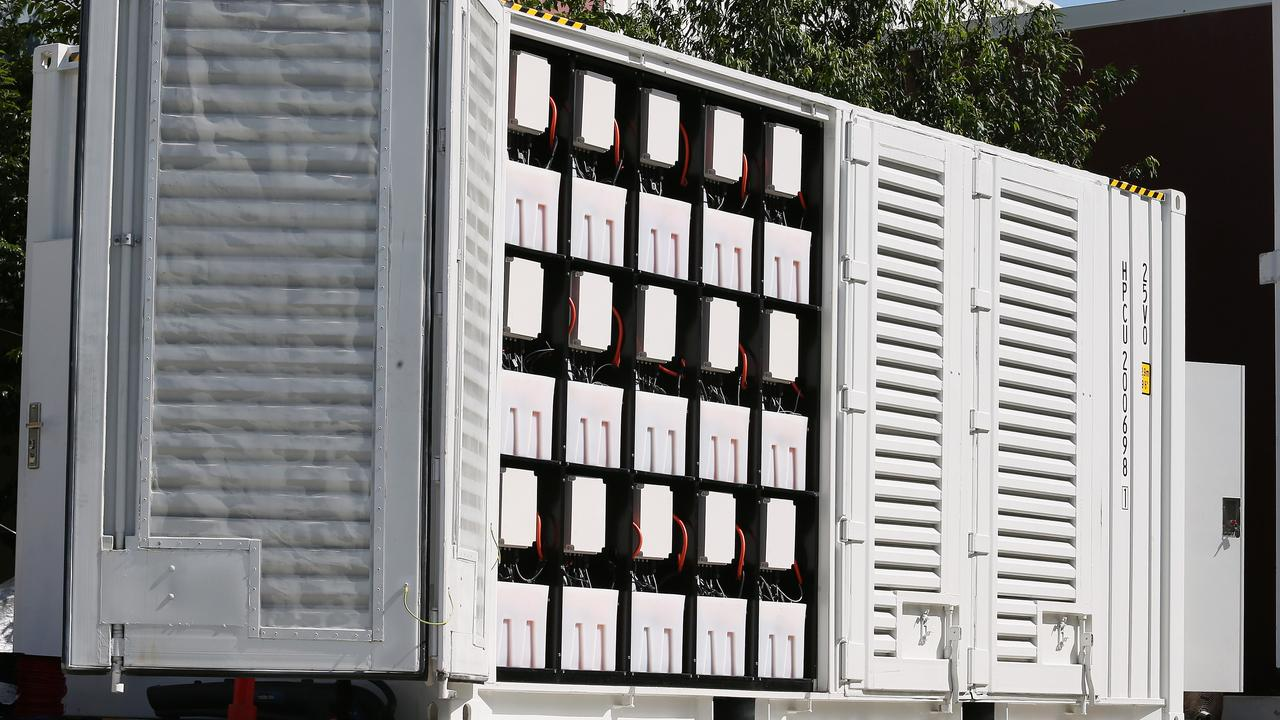 A large scale battery designed by Red Flow. Picture: Claudia Baxter