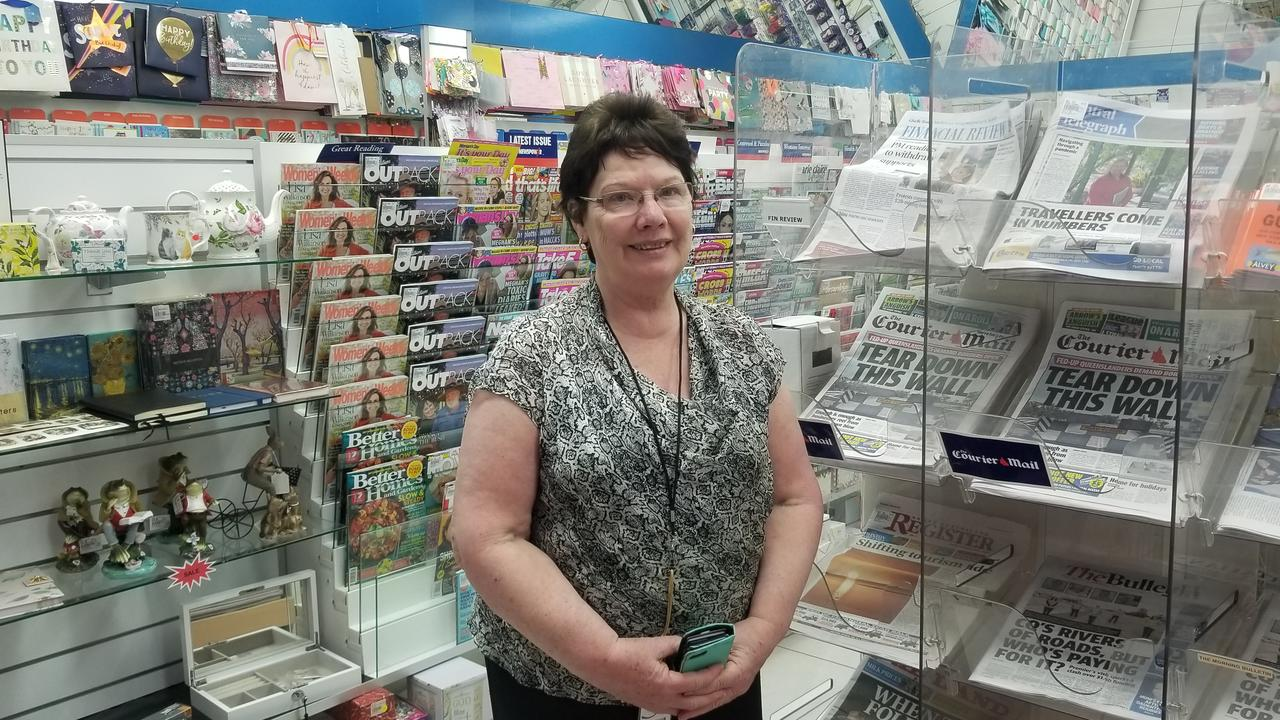 TOWN STAPLE: Nogoa Newsagency and Plaza News owner Penny Taylor.