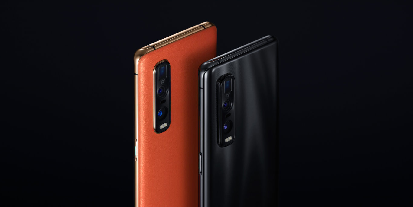 VEGAN LEATHER: The orange leather look has reviewers raving about the top of the range Oppo Find X2 Pro.