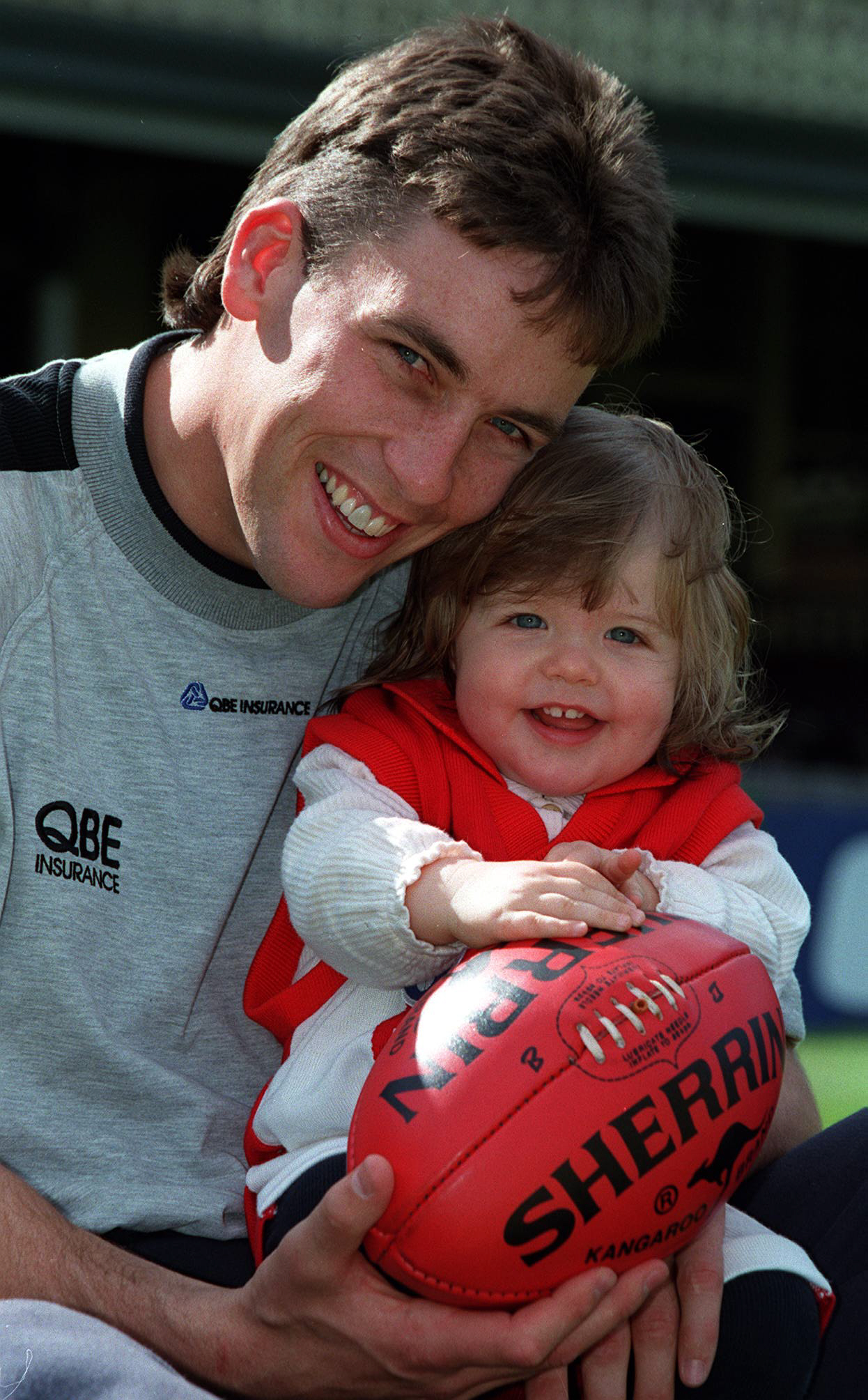 Andrew Dunkley with an 18-month-old Lara in Sydney.