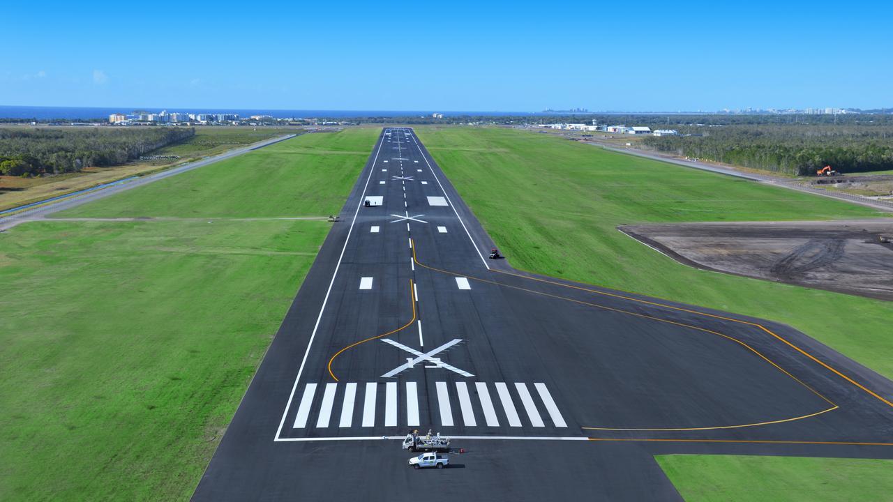 REGIONAL BOOST: Sunshine Coast Airport's new international standard runway.