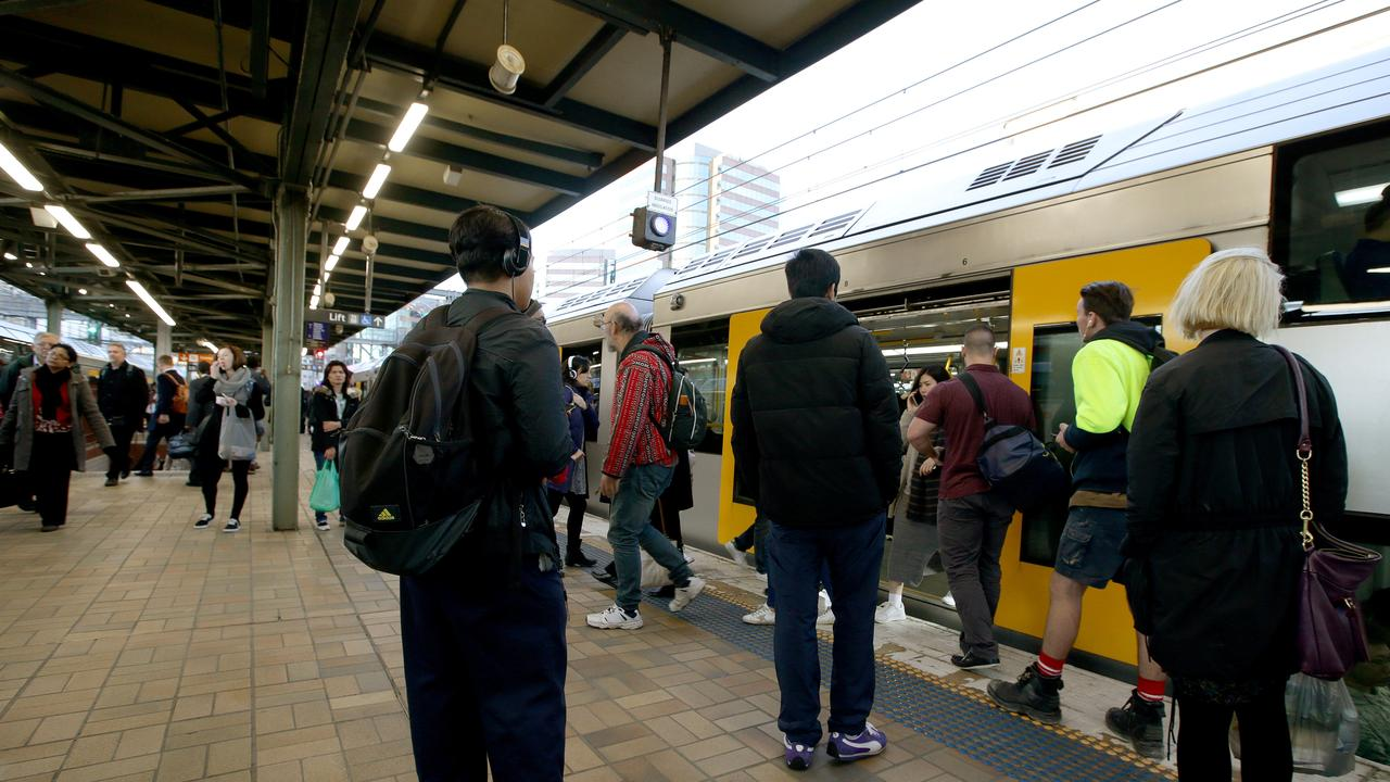 Train use last month grew 52 per cent compared to the month prior. Picture: Jonathan Ng