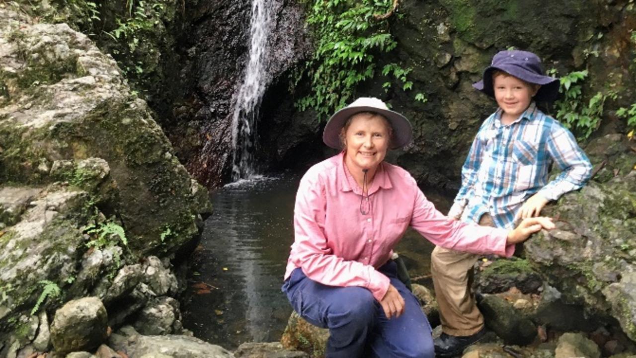 NATURE LOVING: Jarrah with his mum.