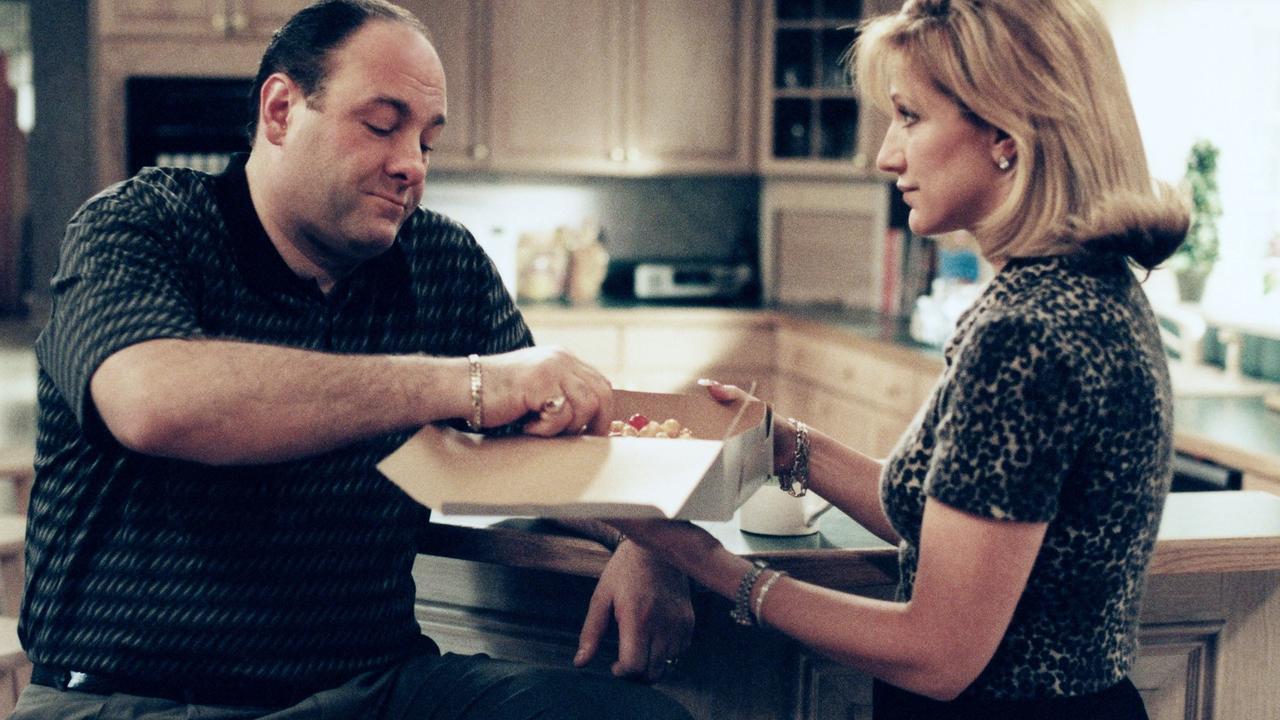 Tony and Carmella Soprano at home. Picture: HBO