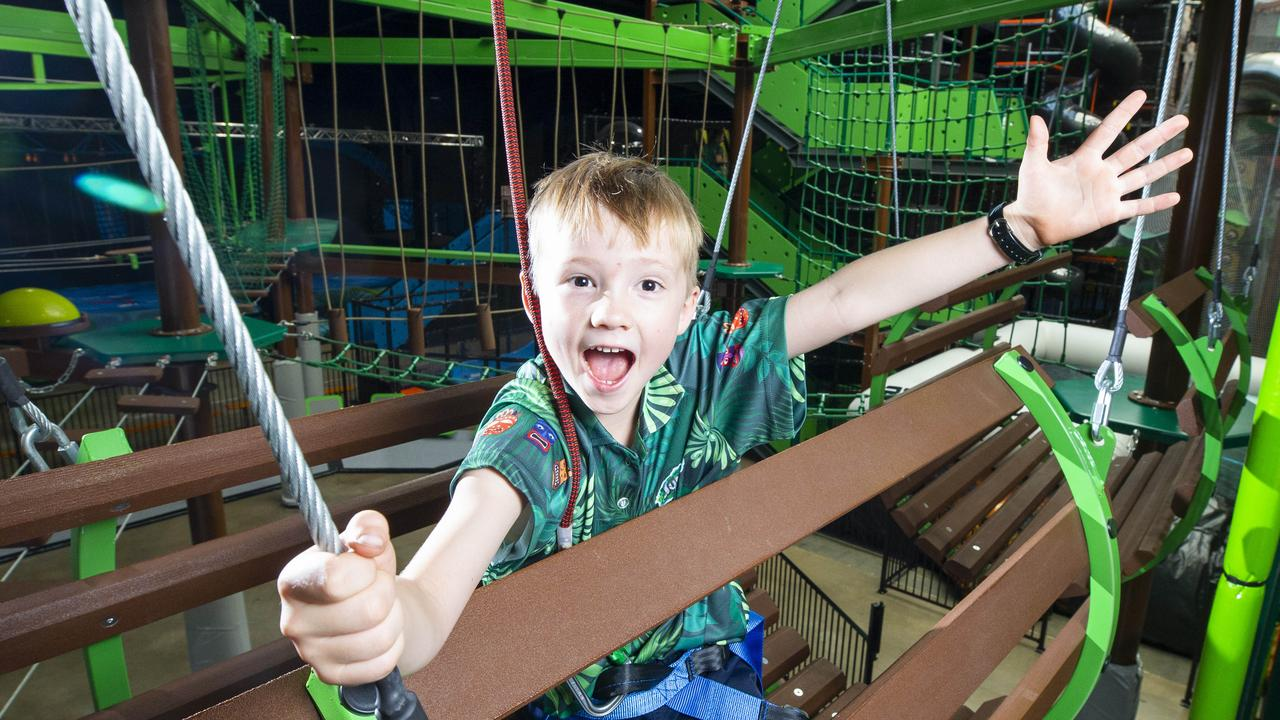 Climbing walls, a ninja course and a 800 sqm playground are just some of the features waiting for children to unleash as largest indoor play centre opens.