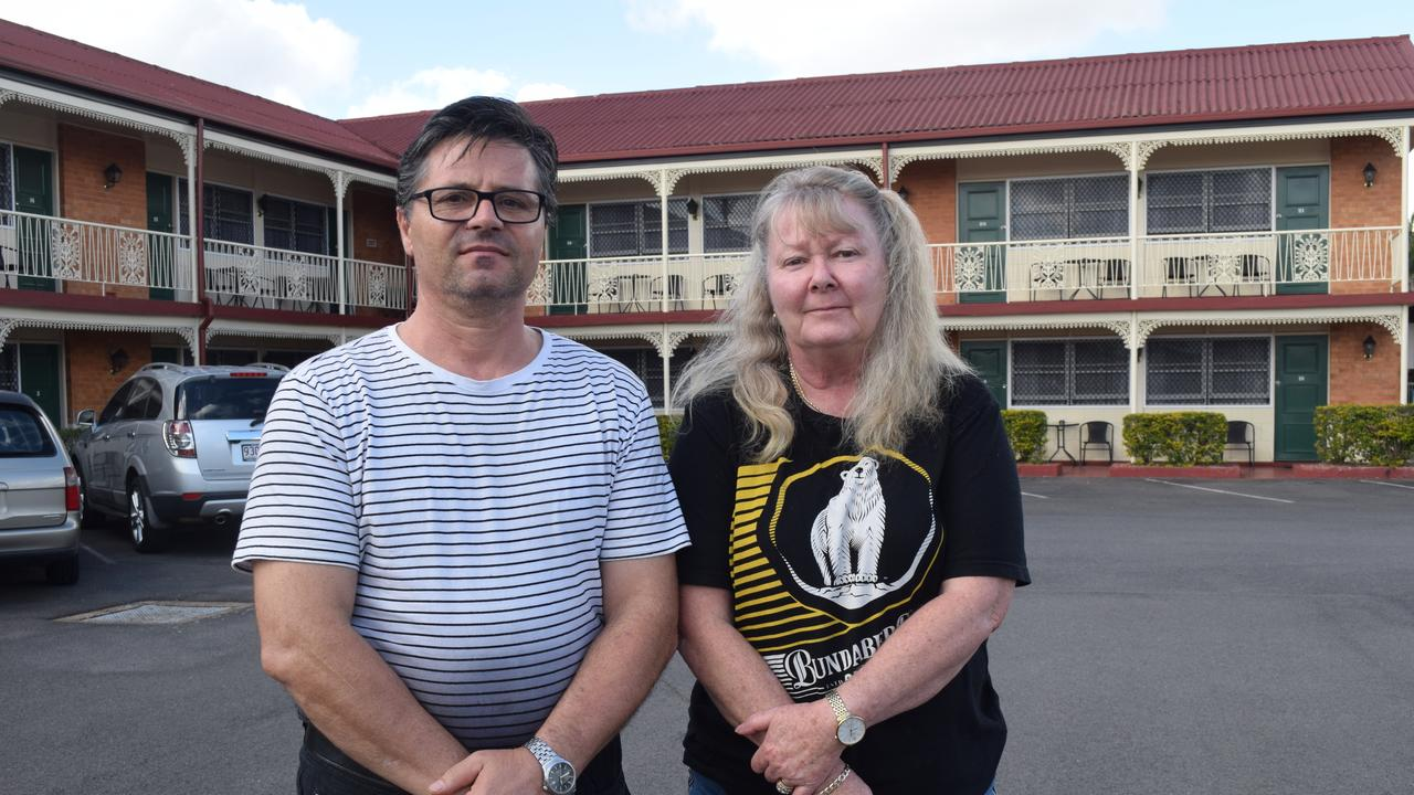 Owners of the Mineral Sands Motel, (L) John and Tricia Barounis. Photo: Stuart Fast